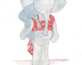 Babywearing Elephant Print Kokoro Lipstick