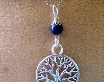 tree of life pendant lapis lazuli