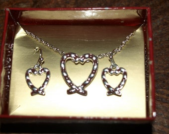 Candy Cane Necklace and Earring Set