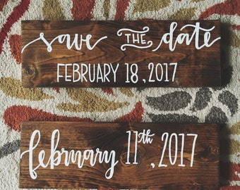 Save The Date/ Just Married Wooden Sign