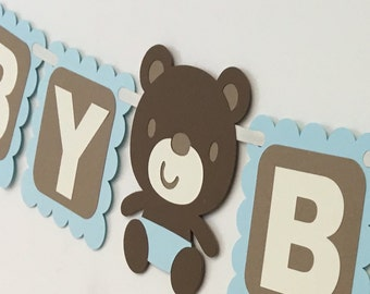 Teddy bear baby shower banner