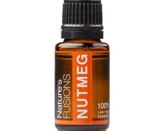 Nutmeg Essential Oil 15ml – Myristica Fragrans - 100% Pure