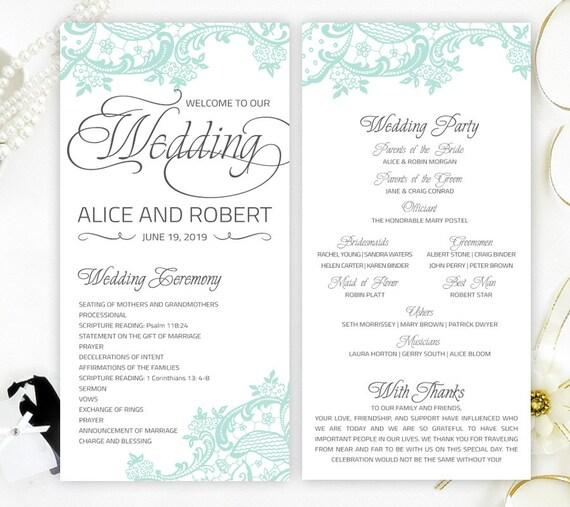 Cheap Wedding Programs: Ceremony Programs Cheap Mint Green Lace Wedding Programs