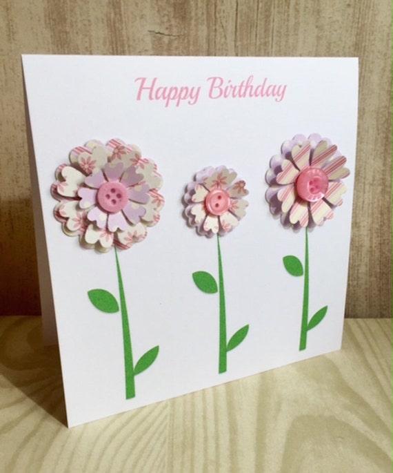 Handmade 3D Flower Card