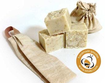 Handmade Soap Facial Set—Oatmeal Facial Gift Set with handmade oatmeal soap