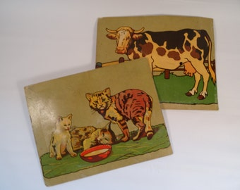 Set of Two Animal Squeaker Cards with Working Squeak Toy Inside