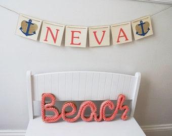 Nautical Name Banner