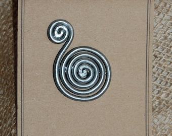 Celtic Spirals Brooch