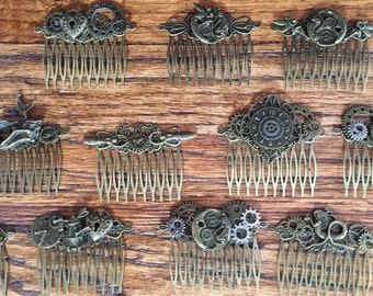 Steampunk Hair Comb - Assorted