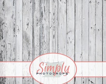 Vinyl Backdrop, Peeling White Wood, Photography Backdrop // Simply Photodrops Premium vinyl backdrop