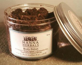 Vanilla Latte Body Polish - Vanilla Coffee Sugar Scrub - Organic Vanilla - Organic Coffee - Organic sugar scrub - All natural Body Polish