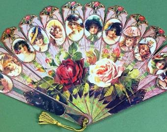 Victorian Fan Victorian Ladies in Hats True Beauty Old Print Factory