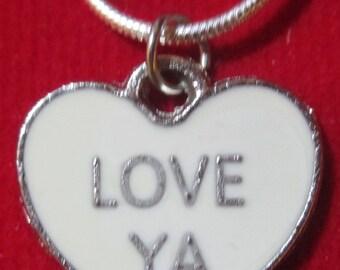 Love Ya Valentine Heart Necklace