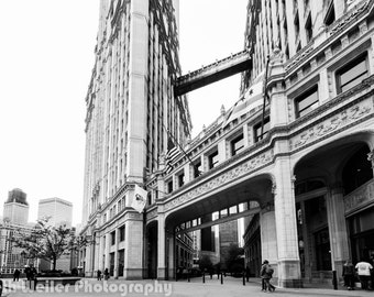Chicago Photography Art Print, Wrigley Building #1 in Black & White