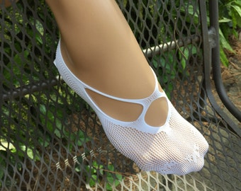 Lace Footies Women Liner Footsies No Show Summer Foot Socks Hidden Shoe Liner White Stretch Lace Sock Lace Summer Sleepers Airplane Footies