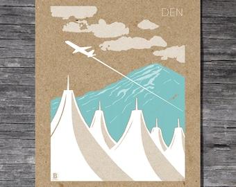 Denver Airport Screen Printed Poster