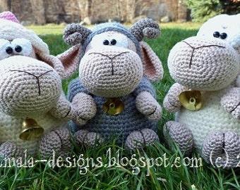 sheep, crochet pattern by mala designs ®