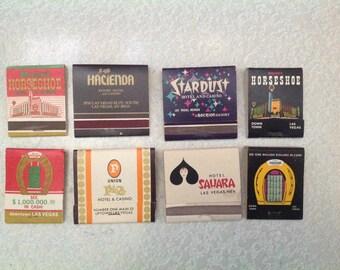 Vintage Las Vegas Matchbooks - 1960's unused - vintage Las Vegas / vintage hotel matchbook