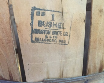 1930's Bushel Basket from the Houston-White Company Mill and Basket Factory