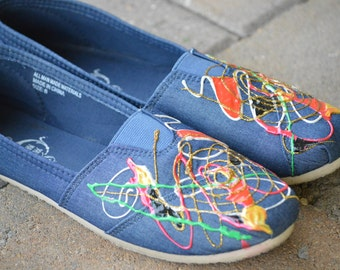 Handpainted Canvas shoes