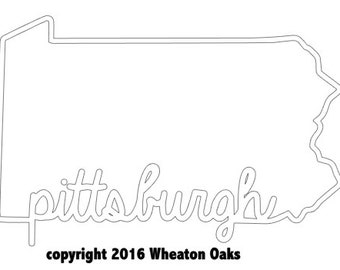 Pittsburgh Pennsylvania Decal | Pittsburgh | Pennsylvania Decal | Pittsburgh Car Decal | Pittsburgh Laptop Decal