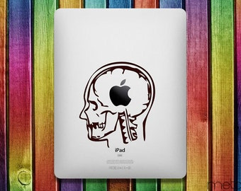 Skull Slice iPad Sticker Decal - decal stickers, ipad stickers, sticker apple, ipad decals, ipad sticker, sticker ipad, ipad decal