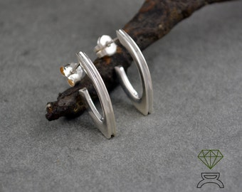 Crossbow Earrings,Sterling silver earrings