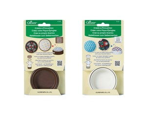 Clover Create-A-Pincushion, Brown or Ivory, #4120, 4121