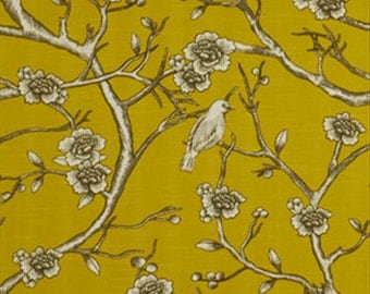 Robert Allen VINTAGE BLOSSO CITRINE  Drapery Fabric By The Yard