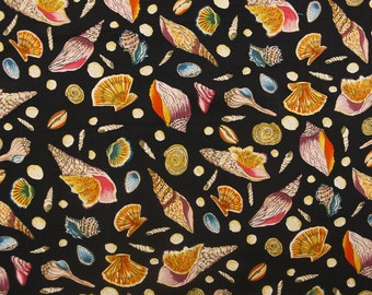 Tranquil Water Ocean Shells Quilting Fabric By The Yard