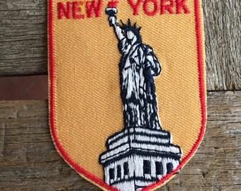 New York City Vintage Souvenir Travel Patch from Baxter Lane