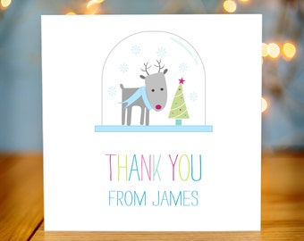 Childrens Christmas Thank You Card Packs - Reindeer Kids