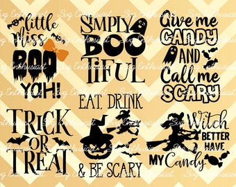 Halloween bundle SVG, Halloween sayings SVG, bats Svg, Trick or treat Svg, halloween quote svg, Vinyl, EPS, Dxf, Cut File, Clip Art, Vector,