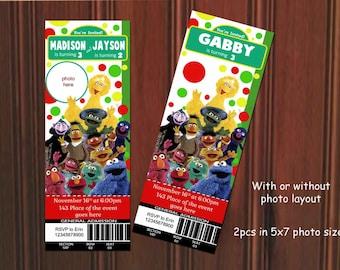Sesame Street Invitation. Sesame Street Birthday Invitation. Sesame Street Printable. Sesame Street Party. Digital (you print)