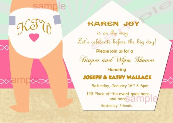 diapers and wipes baby shower invitation diaper baby shower