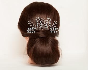 Bridal hair pins Wedding hair piece Crystal hair pins Wedding hair pins Crystal wedding headpiece Wedding hair accessories Hair clips