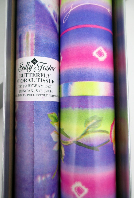 Lovely Sally Foster Gift Wrap Part - 13: Sally Foster Gift Wrap Set Butterfly By MistysMercantile On Etsy