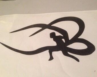Kaneki Battle Ready - Tokyo Ghoul silhouette vinyl window decal sticker