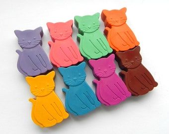 Cat Crayons | Set of 8 | Unique kids gift | Birthday gift | Party Favours | Cat Lovers | Novelty Crayons | Kids Wedding favours | Pussy Cat
