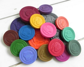 Pirate Treasure Crayon Bucket | Crayon coins | Pirate Party Favours | Birthday Gift | Pirate Party | Childrens Gift | Money coins | Pirate