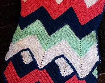 Crochet Chevron afghan