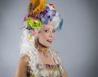 Marie Antoinette Wig, White Wig, Masquerade Wig, Rococo Wig, White Long Wig, Marie Antoinette Costume, 18th Century Wig,18th Century Costume