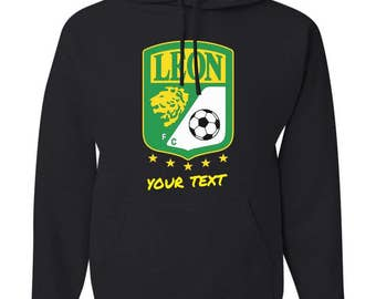 Leon La Fiera Mexico Hooded Sweatshirt Hoodie Hoody Sudadera With Custom Text(optional)