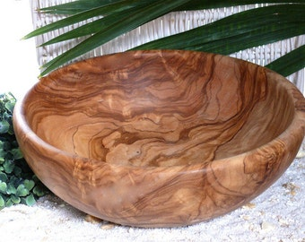 Salad bowl Ø 25 cm / 9.8 inches olive wood
