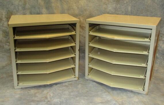 lot 2 metal shelving units slide out plastic by theoldgrainery. Black Bedroom Furniture Sets. Home Design Ideas