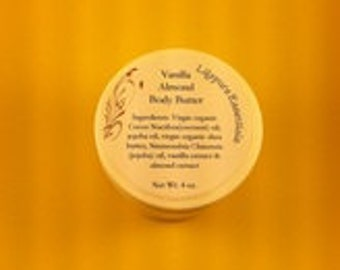Vanilla Almond Body Butter 4 oz