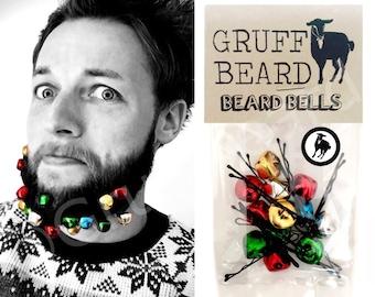 Beard Bells. Jingling christmas baubles for beards! xmas gift secret santa or stocking filler stuffer for men. ornaments fun gift for him
