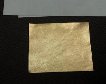 Gold Metallic Leather Piece