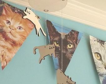 Cats Mini Mobile Lasercut From Wood
