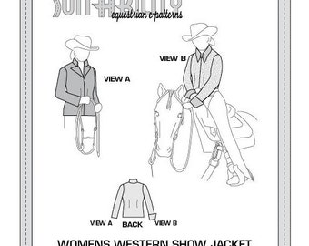 PDF Women's Western Show Jacket and Blouse Pattern